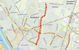 Die Karte zeigt den Verlauf der Hochleistungsstraße B232 an.