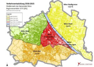 Karte Strassenverkehrszählung 2015 Wien