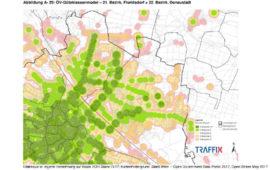 Karte ÖV Erschließung Florisdorf