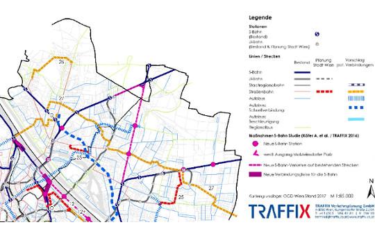 Karte ÖV Maßnahmen in Floridsdorf