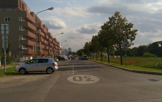 Hans-Czermak-Gasse Blick Richtung Süden vom Satzingerweg aus